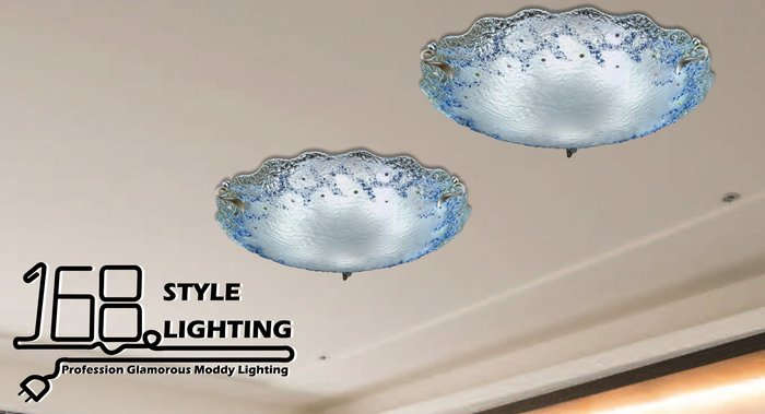 【168 Lighting】雪花飄動《居家吸頂燈》(兩款)五燈款GI 71395-4