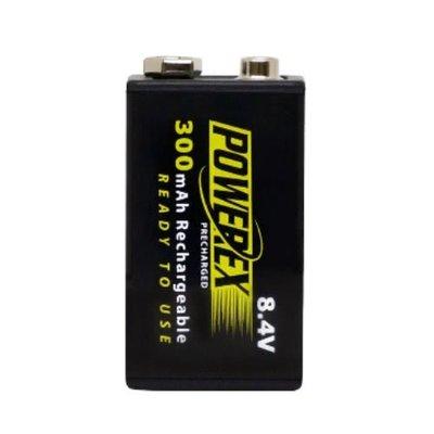【控光後衛】MAHA-POWEREX 8.4V 低自放充電池1卡1顆(MHR84VP-300) 台北市
