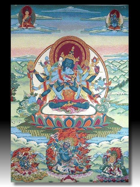 【 金王記拍寶網 】S1388  中國西藏藏密佛像刺繡唐卡 千手觀音佛  刺繡 (大張) 一張 完美罕見~