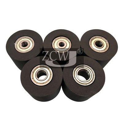 #爆款#包膠軸承滑輪35*30聚氨酯滾輪從動壓輪輸送帶靜音導向輪雙軸承