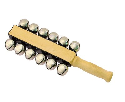 【晴晴百寶盒】台灣製造 雪鈴12個鈴 手搖鈴音樂 雪鈴樂器 益智遊戲 高品質 樂器送禮禮物禮品 創意兒童早教 W111