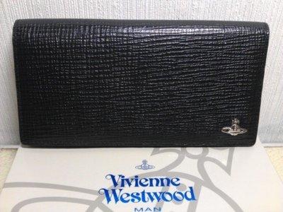 Vivienne Westwood Man 黑色皮格 長皮夾 保證真品