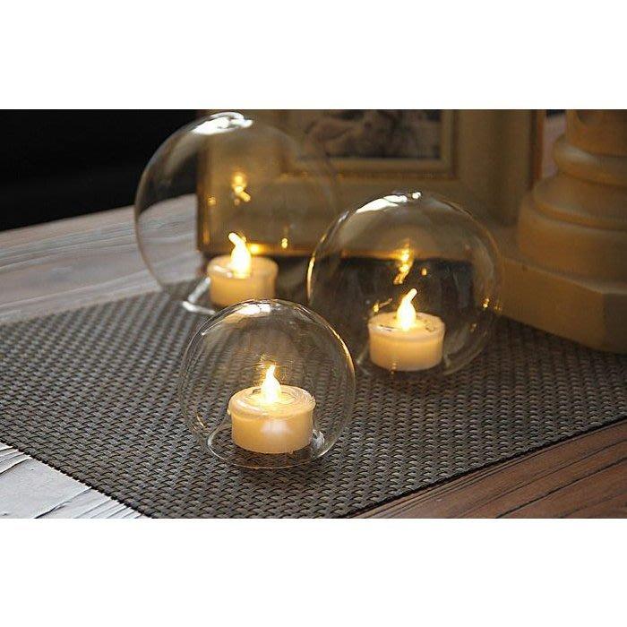 【現貨】浪漫 透明 玻璃 電子蠟燭 小夜燈 燭台 蠟燭 燭光晚餐 婚禮 節慶 布置 舞蹈 派對 浪漫燈 氣氛燈