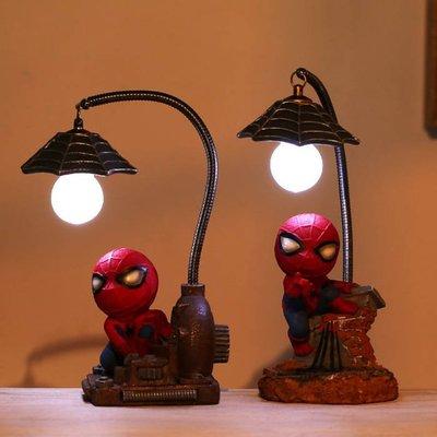 糖衣子輕鬆購【BA0232】動漫卡通蜘蛛人小夜燈日本雜貨工藝品擺件裝飾品禮物
