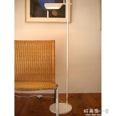 北歐LED落地燈美式客廳沙發臥室書房創意長臂立式臺燈燈罩可調節    NMS
