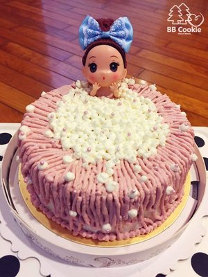 「BB Cookie森林手作」手作泡澡娃娃戚風蛋糕 造型蛋糕 無添加 七吋