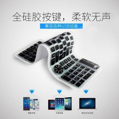 數字鍵盤鍵盤折疊無聲防水防塵usb辦公有線小鍵盤靜音手機硅膠ipad軟鍵盤DF  二度