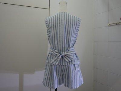 ☆注目の原裝進口日本百貨公司品牌RUMOR 夏新款白水藍直條紋背心☆