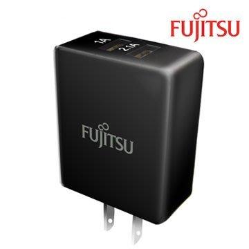【捷修電腦。士林】 FUJITSU富士通3.1A電源供應器-2PORT (黑) $369