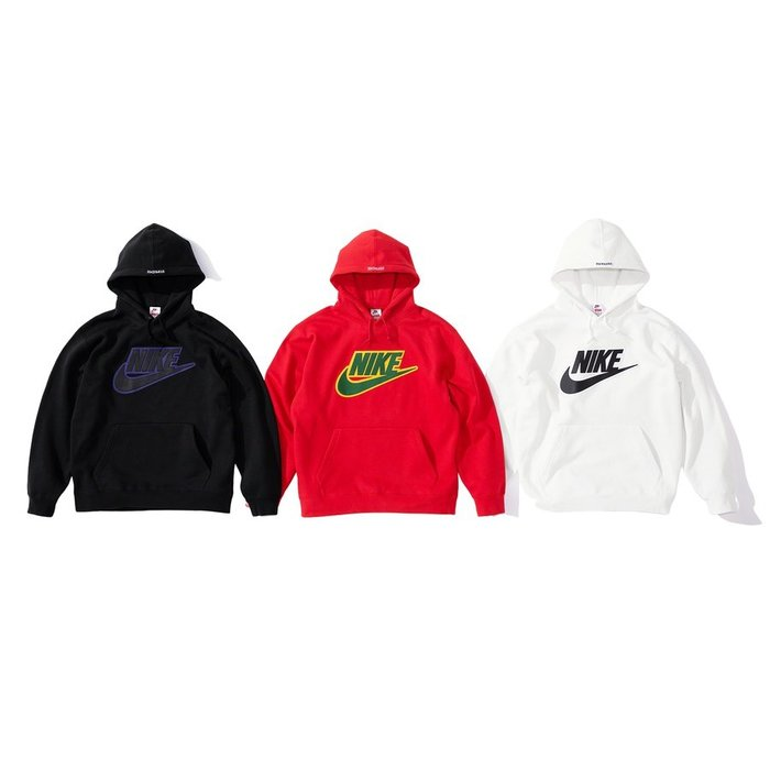 【紐約范特西】預購 Supreme FW19 Nike Leather Appliqué Sweatshirt 帽tee
