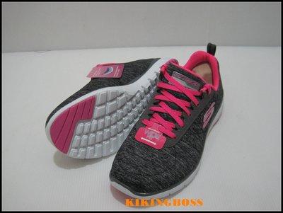 【喬治城】SKECHERS 女款 運動系列鞋 FLEX APPEAL 3.0(黑粉)13067W/BKHP