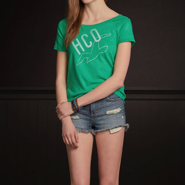 (BJGO) Hollister _女裝_PC HIGHWAY SHINE T-SHIRT 經典海鷗大圓領T恤新品現貨M