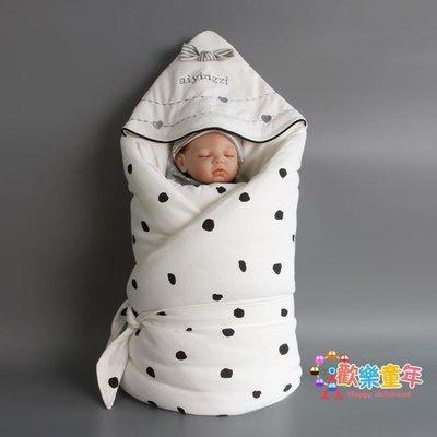 嬰姿嬰兒抱被棉質秋冬加厚新生嬰兒用品初生寶寶襁褓包被兩用外出