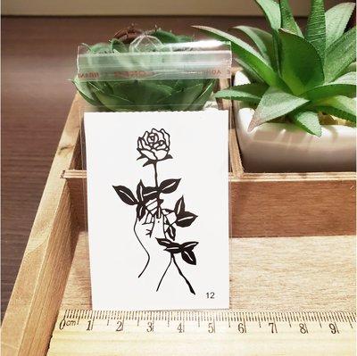 【萌古屋】百態人12單圖 - 男女防水紋身貼紙刺青貼紙 K43