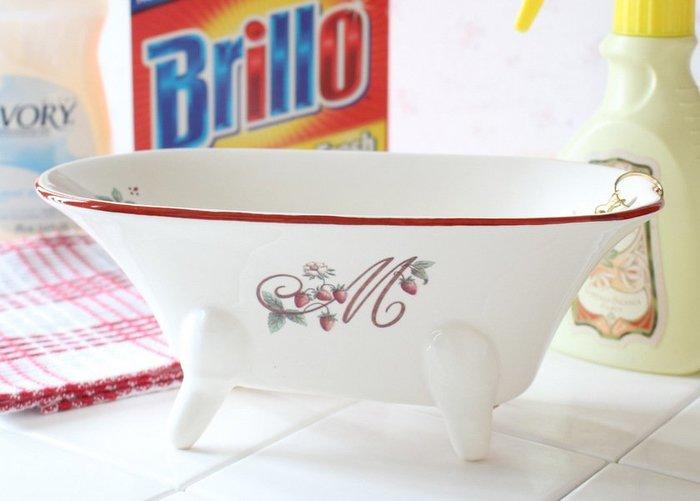 《齊洛瓦鄉村風雜貨》日本zakka雜貨 日本製職人手工製作草莓野莓系列收納盒 浴缸造型收納