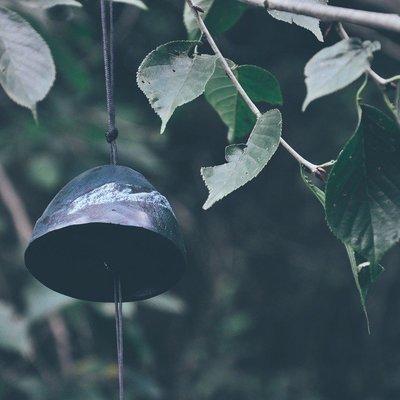 南部巖手日本鈴鐺和風掛飾寺廟風鈴日式鑄鐵祈福鐵器復古富士山