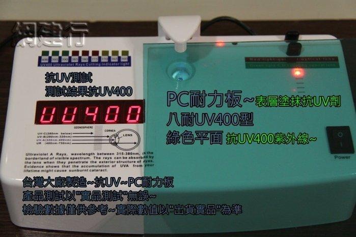 【UV400抗紫外線~耐用5年以上】 PC耐力板 青綠平面 3mm 每才66元 防風 遮陽 PC板 ~新莊可自取