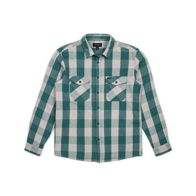 Brixton - Hayes L/S Flannel 綠灰 格紋 法蘭絨 長袖 襯衫 現貨販售
