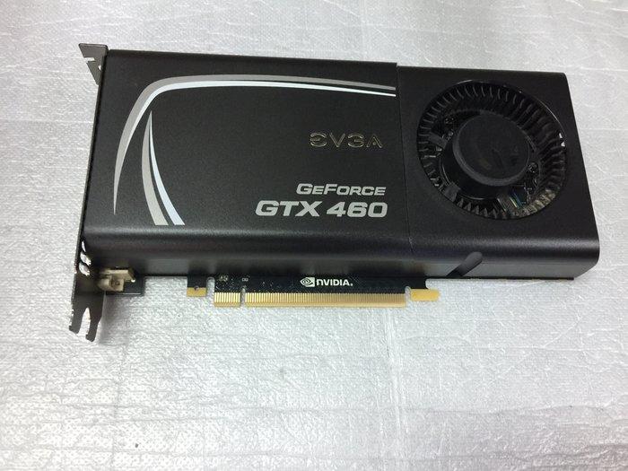 電腦雜貨店→艾維克EVGA GTX 460  1G  DDR5 PCI-E顯示卡 二手良品 $500