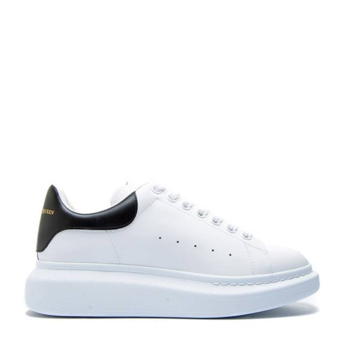 Alexander McQueen牛皮黑尾小白鞋 尺寸:39-44