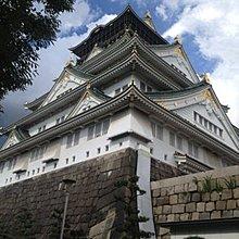 現代裝飾畫日本戰國名勝旅行海報定古城池牆大阪城客廳