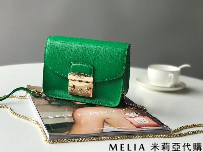 Melia 米莉亞代購 商城特價 數量有限 每日更新 FURLA 經典小方 淑女包 單肩斜背包 素色來襲 綠色