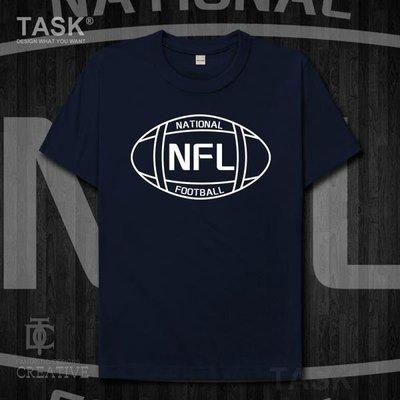 TASK 橄欖球聯盟NFL橄欖球標志logo運動員訓練服純棉短袖T恤0005