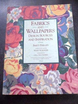 【兩手書坊】西文書~《FABRICS AND WALLPAPERS》~F5