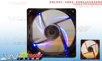 【WSW 系統風扇】冷光王 12公分 LED 發光風扇 自取60元 12*12*2.5 大4pin 藍 穩定耐用 台中市