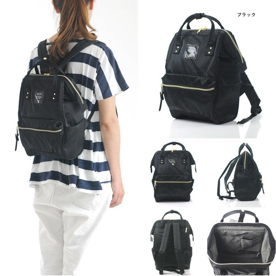 【黑色(mini小的)現貨! 日本正版  Anello  高密度尼龍  】   防潑水新款 媽媽包  後背包!