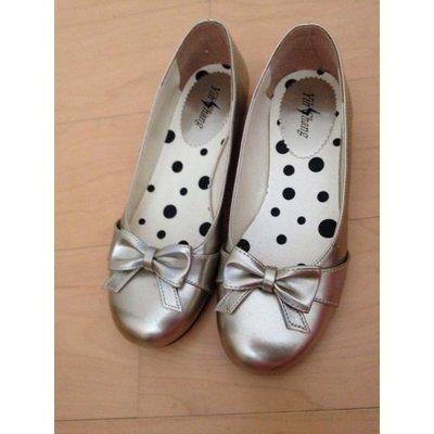 古銅色 蝴蝶結 娃娃鞋