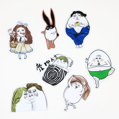 防水貼紙 Shock MAMA蛋定人生第六組(7入)