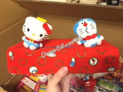 ☆橘子貓的918号店☆日本新款 現貨搶先賣 只有一個 日本 正版 A夢&Kitty 立體造型 面紙套 哆拉A夢