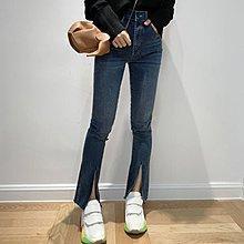 《巴黎拜金女》無敵顯瘦又嗲的開叉須邊牛仔褲