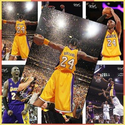 科比海報NBA湖人隊籃球明星Kobe壁紙貼周邊臥室超大高清簽名墻紙