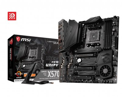 【MSI微星】MEG X570 UNIFY 主機板 IR數位電源設計 Forzr HeatSink 散熱『高雄程傑電腦』
