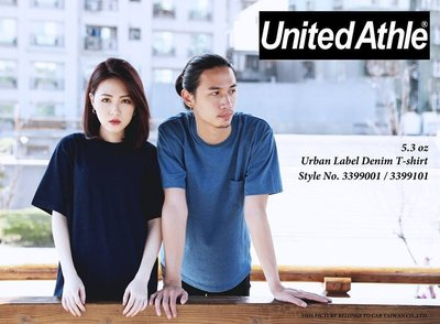 [Combo town]United Athle 3990 5.3oz 素面 藍染 T-shirt 日本 水洗 丹寧 高雄市