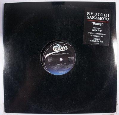 《二手美版單曲黑膠》Ryuichi Sakamoto ft Iggy Pop – Risky