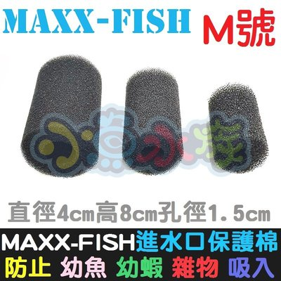 【小魚水族】【MAXXFISH、進水口保護棉套、M號】入水口棉套、保護套、炸彈頭保護套、防止幼魚幼蝦吸入