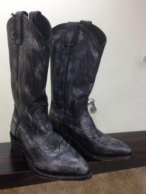 全新 FRYE Billy Pull On 中長靴 洗舊黑限量款  SZ6.5  8800含國際郵資