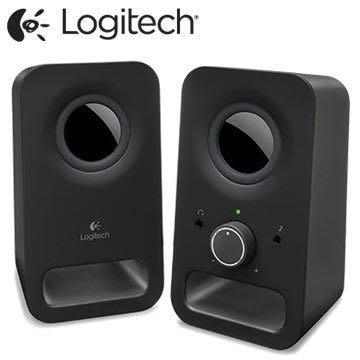 【鳥鵬電腦】Logitech 羅技 Z150 多媒體揚聲器 黑 喇叭 精巧體積 清澈音質 耳機插孔 立體聲