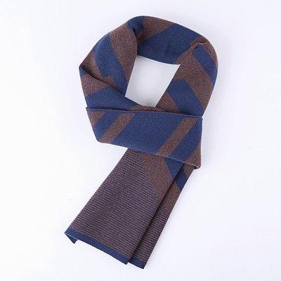 圍巾 針織披肩-羊毛條紋休閒百搭男配件2色73wi33[獨家進口][米蘭精品]