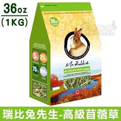 *COCO*瑞比兔先生-苜蓿草1kg(袋裝36oz)牧草/幼兔/天竺鼠/龍貓Mr.Rabbit,兩包可超取