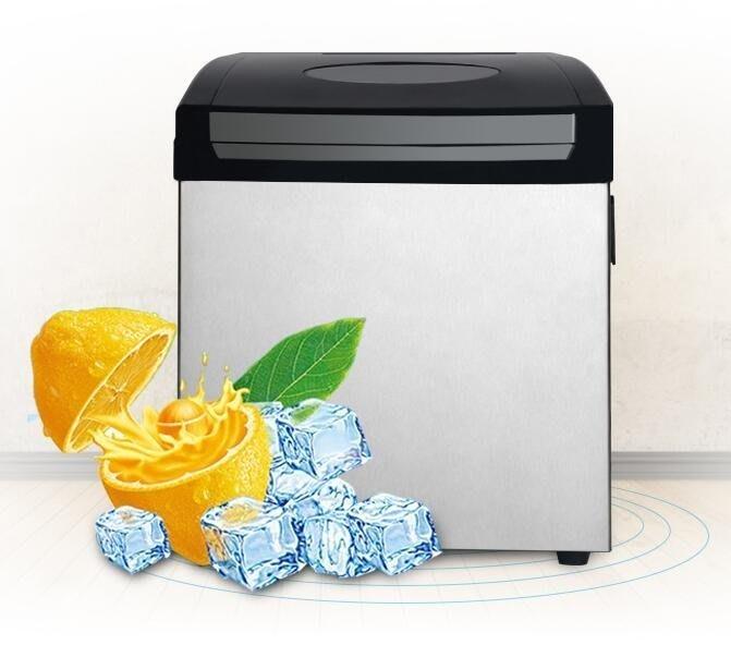 【不二藝術】恒洋奶茶店25公斤商用制冰機小型全自動智慧大型臺式方冰制冰機BYYS194