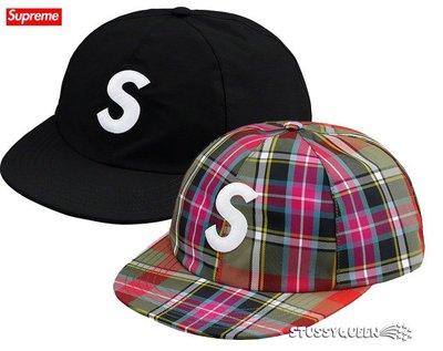 【超搶手】全新正品 2019 SS Supreme GORE-TEX S Logo 6 Panel 六分帽 黑藍綠格子