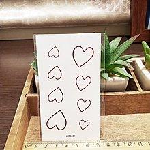 【萌古屋】】紅色愛心 - 防水紋身貼紙刺青貼紙 HC-3001