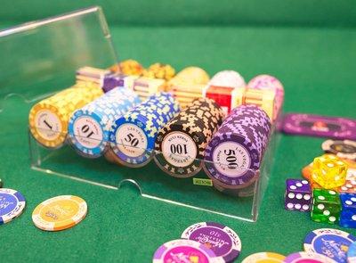 【籌碼】200片盒裝 德州撲克 麻將 百家樂 大小點 博奕 拉斯維加斯 加重籌碼 可任選面額