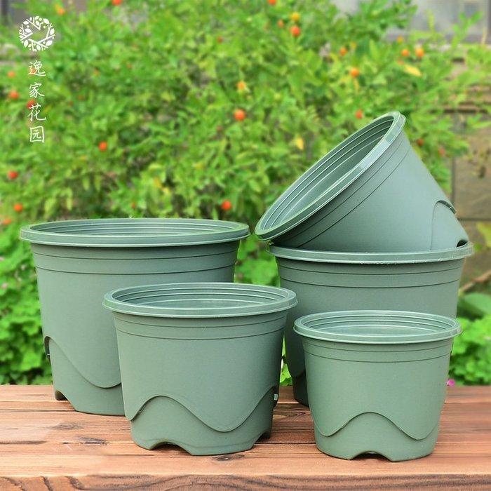 【AMAS】-加厚矮胖塑料盆淺款加侖盆家用花卉種植透氣矮款國產青山控根盆