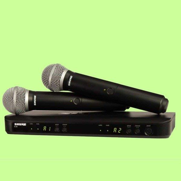 5Cgo【權宇】舒爾 SHURE 頂級BLX系列 BLX288/PG58 無線雙手持話筒 專業美聲麥克風*2 一年保含稅