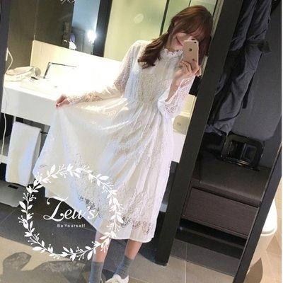 【ZEU'S】秋裝新品甜美收腰蕾絲洋裝『 09218642 』【現+預】IA